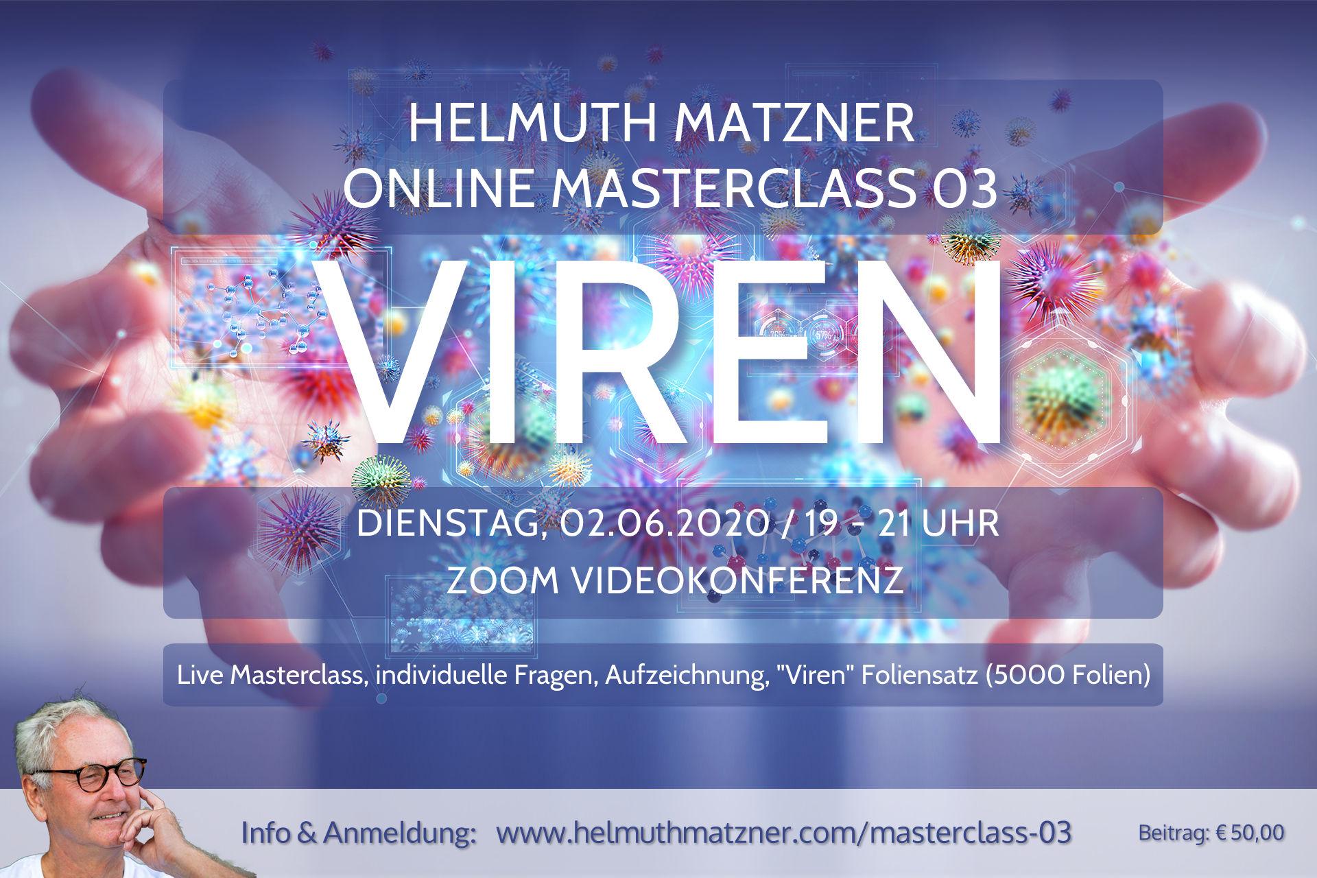 Helmuth Matzner - Online Masterclass 03 - Viren - Web Banner 1