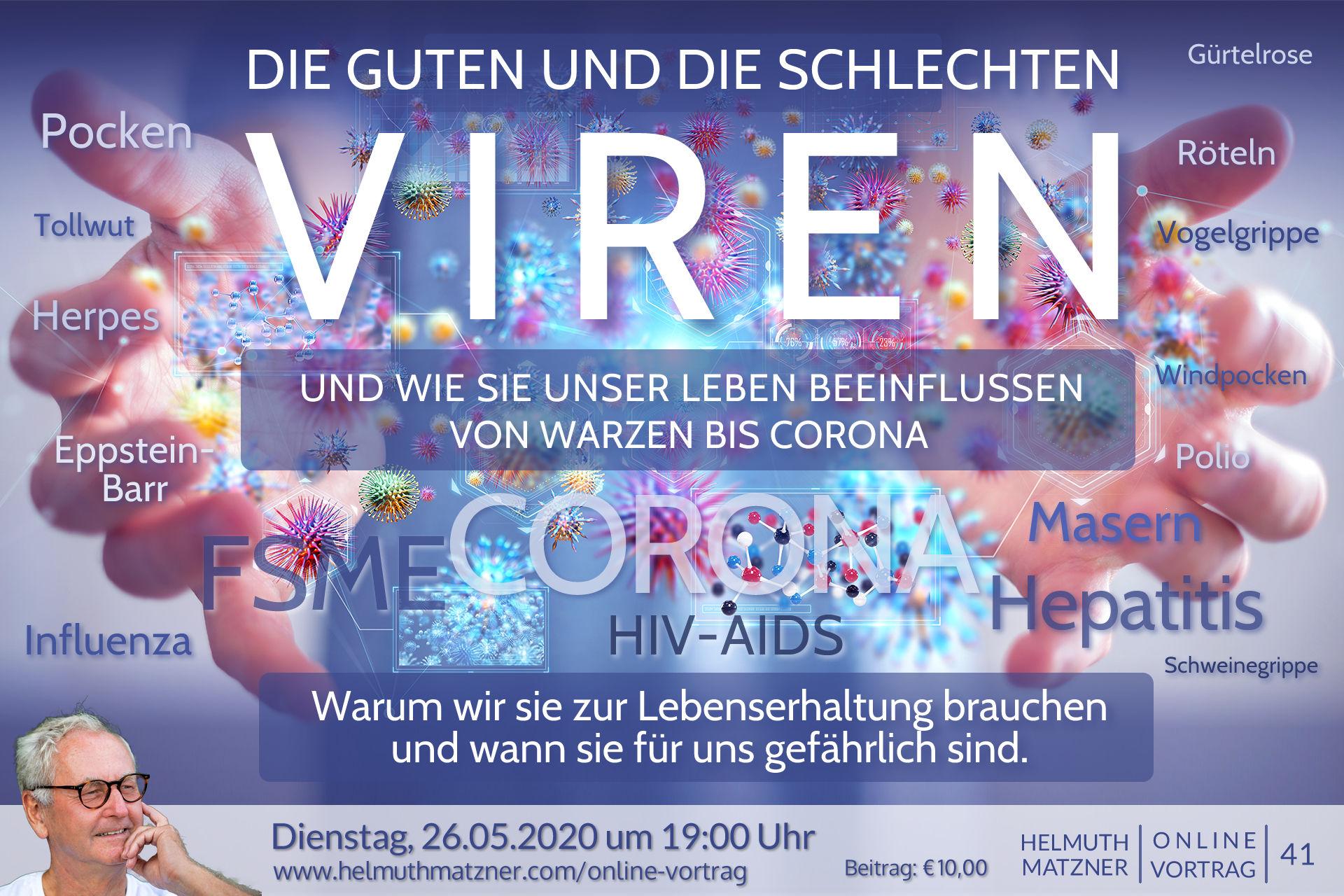 Helmuth Matzner - Online-Vortrag 41 - Viren - Banner B