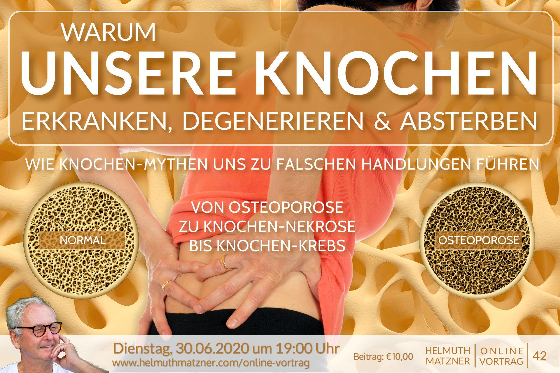 Helmuth Matzner - Online-Vortrag 42 - Knochen - Banner v1