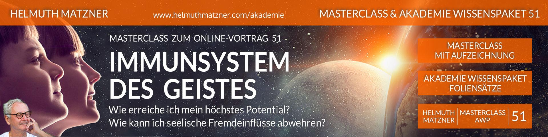 Helmuth Matzner - Masterclass & Akademie Wissenspaket 51 - Höchstes Potential - LP-Banner v09B