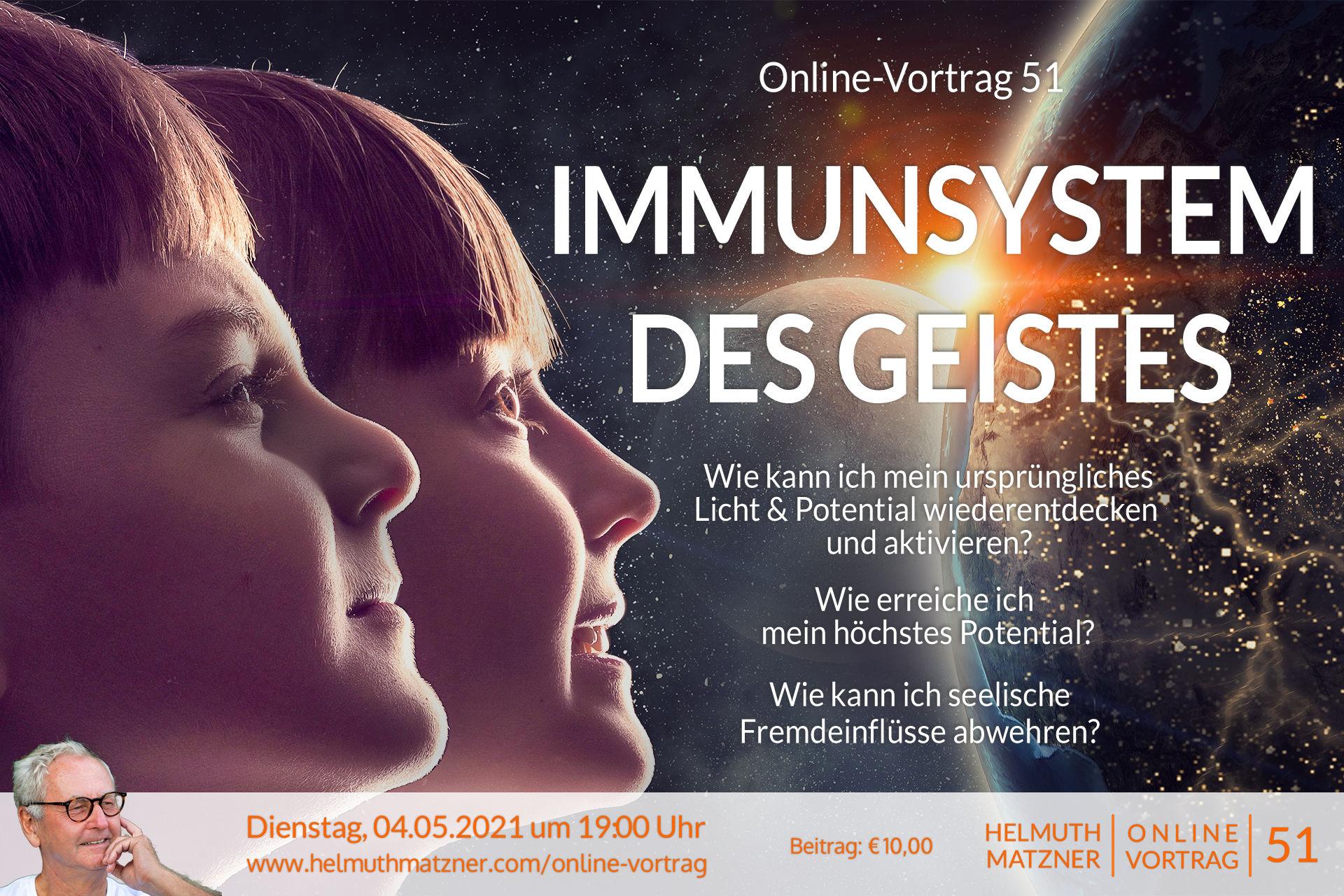 Helmuth Matzner - Online-Vortrag 51 - Höchstes Potential - Banner v01B