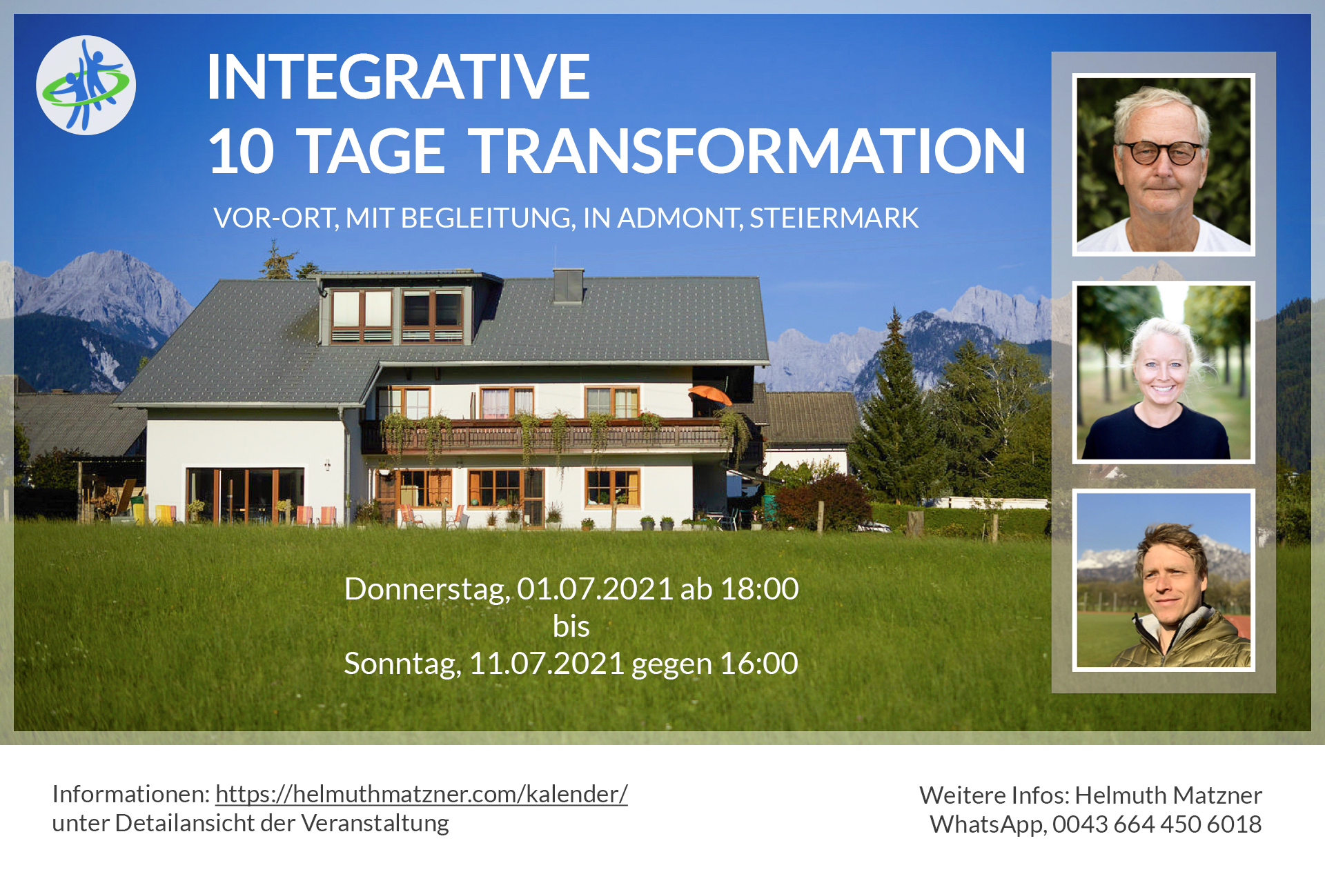 Helmuth Matzner - Integrative 10 Tage Transformation in Admont 2021 - Banner v01_B2
