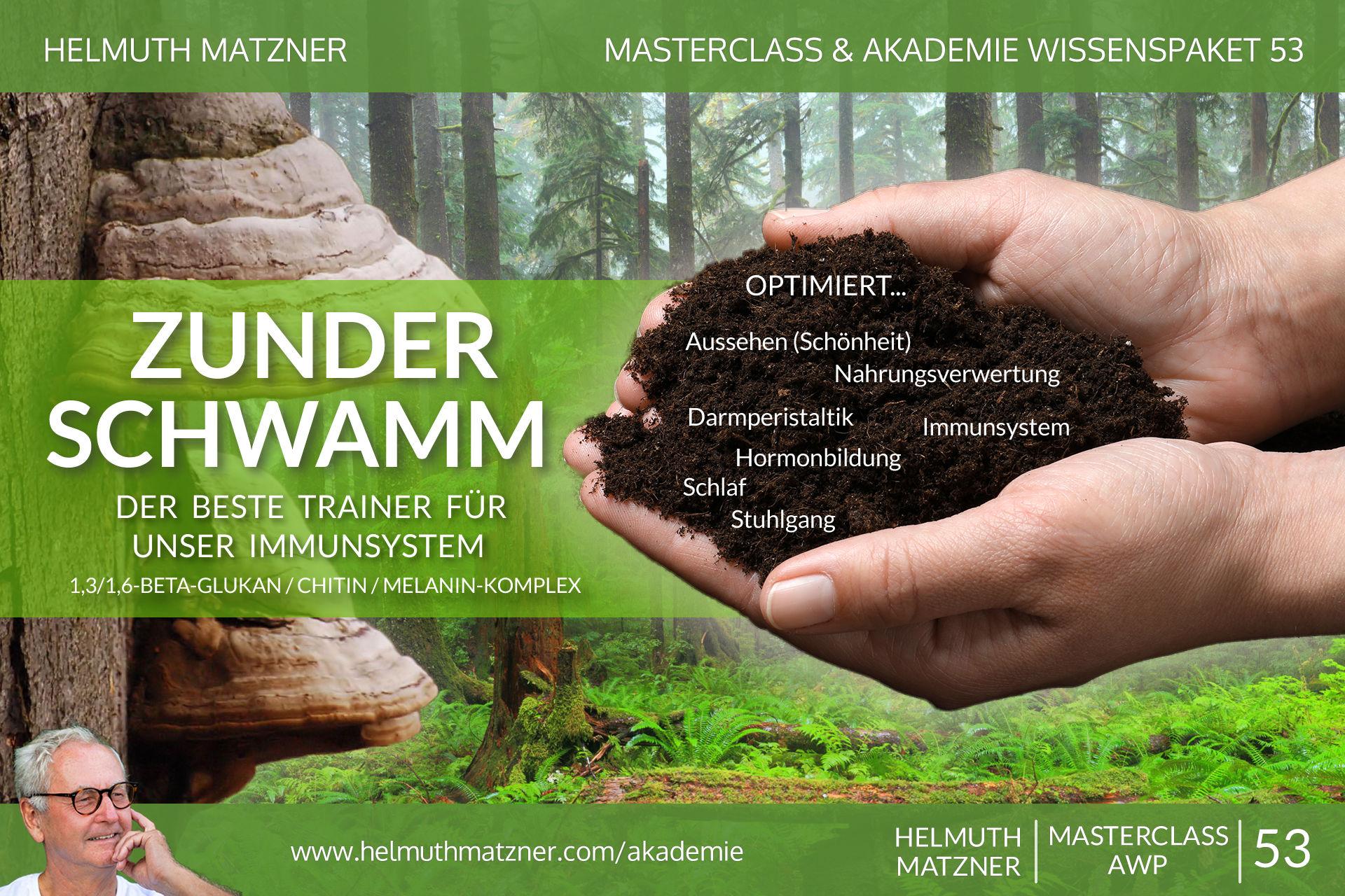 Helmuth Matzner - Masterclass & Akademie Wissenspaket 53 - Zunderschwamm - AKADEMIE - v01
