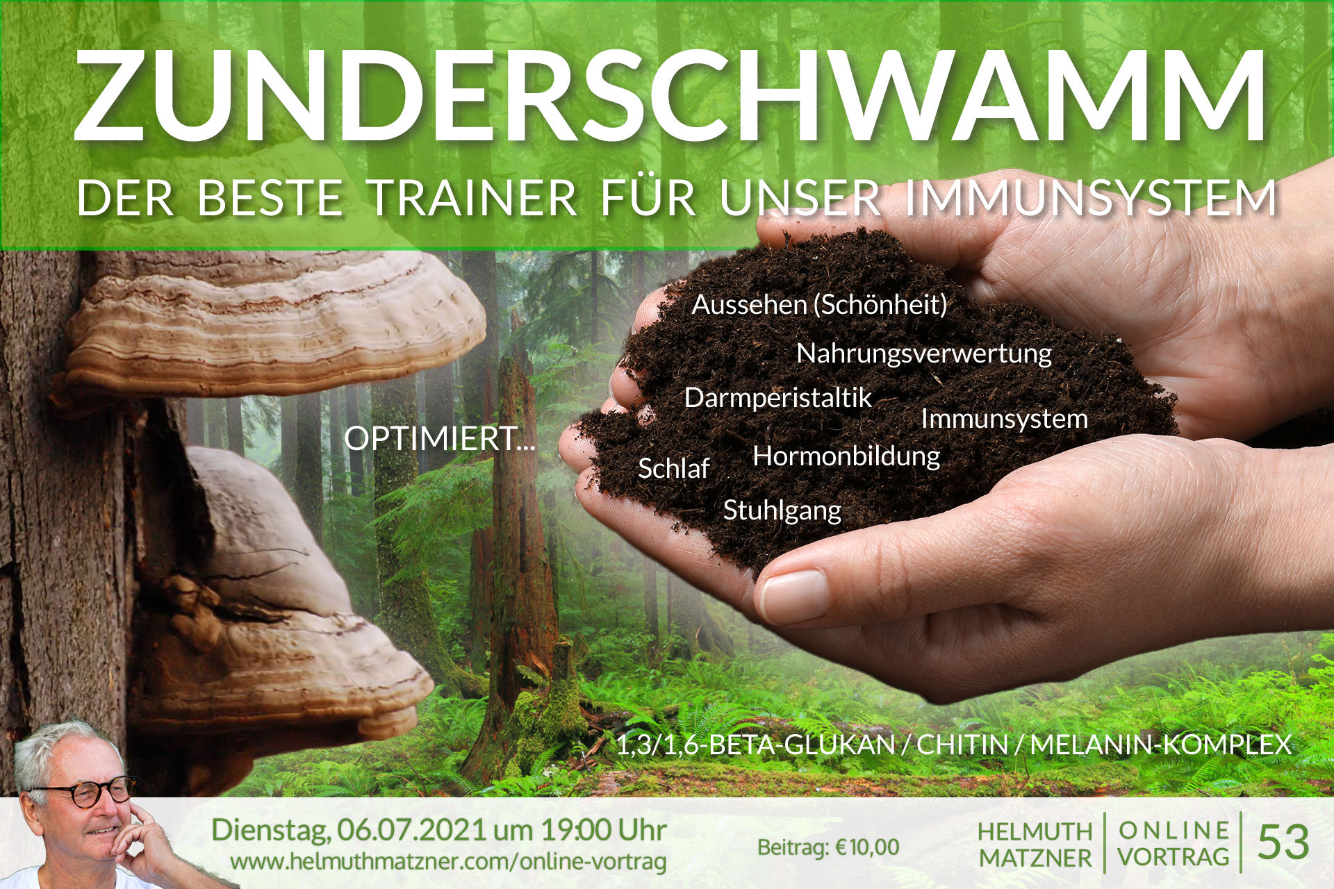 Helmuth Matzner - Online-Vortrag 53 - Zunderschwamm - Banner v01B