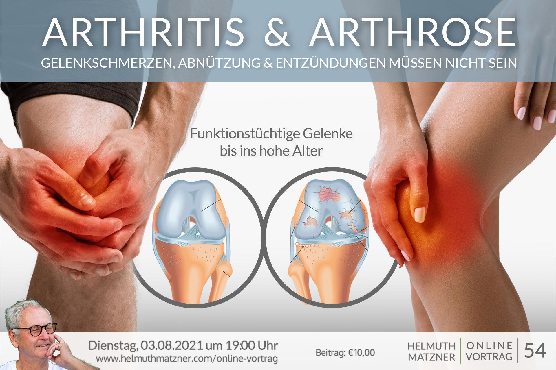 Helmuth Matzner - Online-Vortrag 54 - Arthritis Arthrose - OV Banner v01