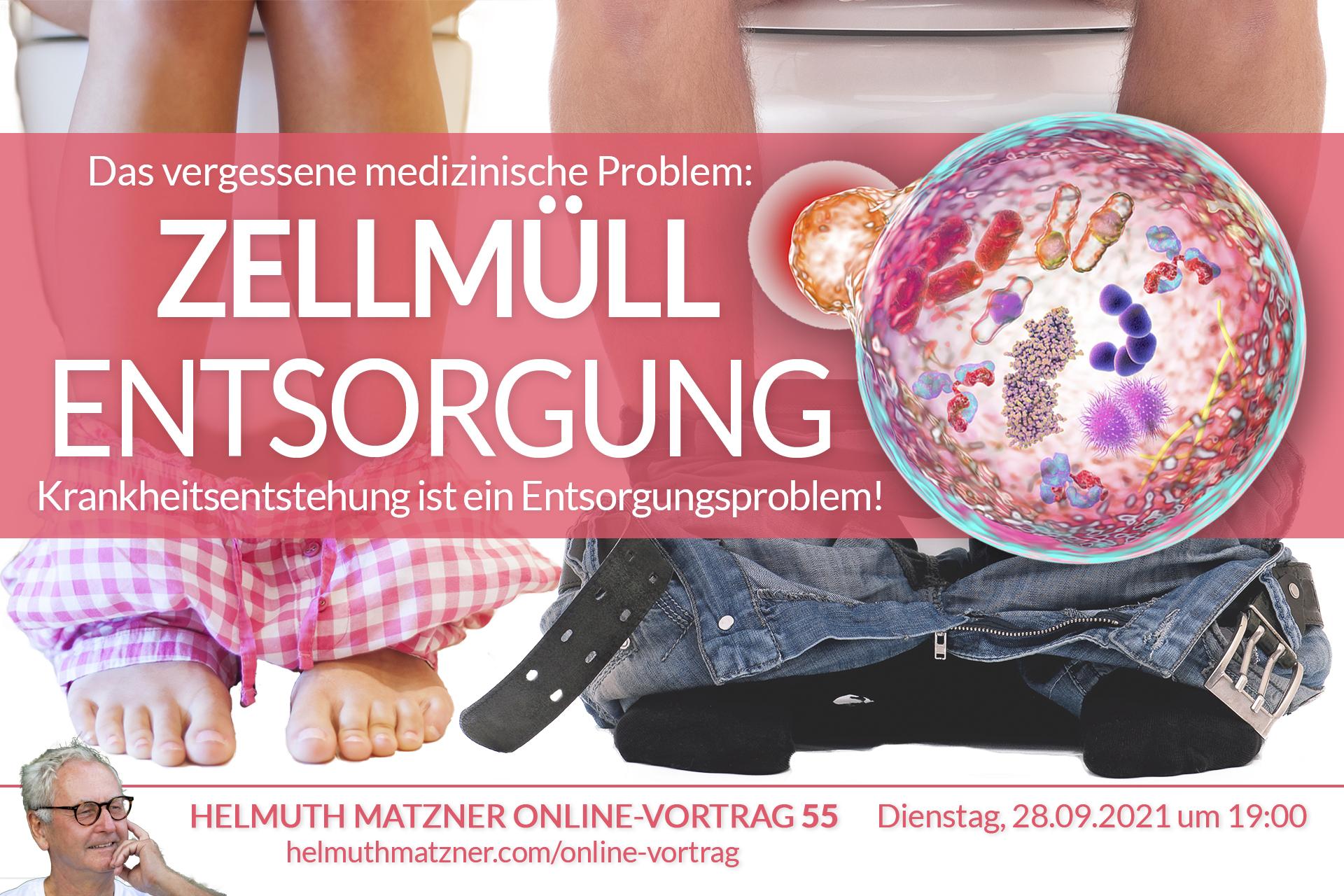 Helmuth Matzner - Online-Vortrag 55 - Zellmüll Entsorgung - OV Banner v01